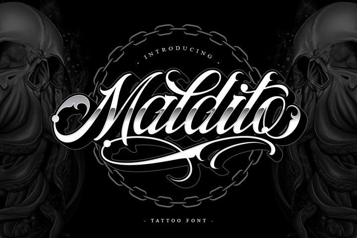 Maldito Font | Tattoo Style
