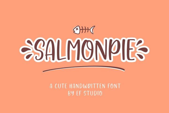 Salmonpie | A Cute Handwritten Font