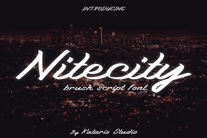 Nitecity | Modern Brush Font