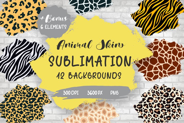 Sublimation Animal Skins Brush Strokes Textured Backgrounds