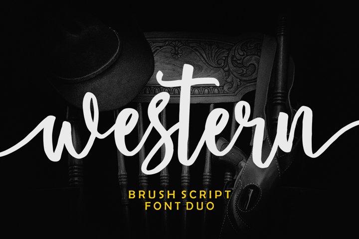 Western Script Font Duo