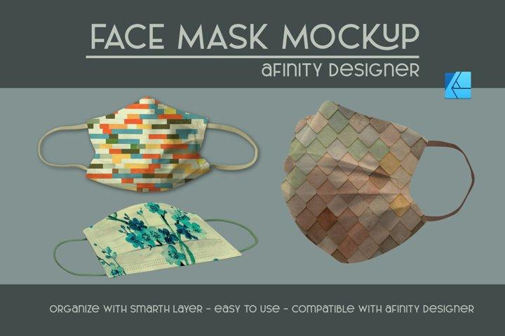 Face mask | Afinity designer mockup