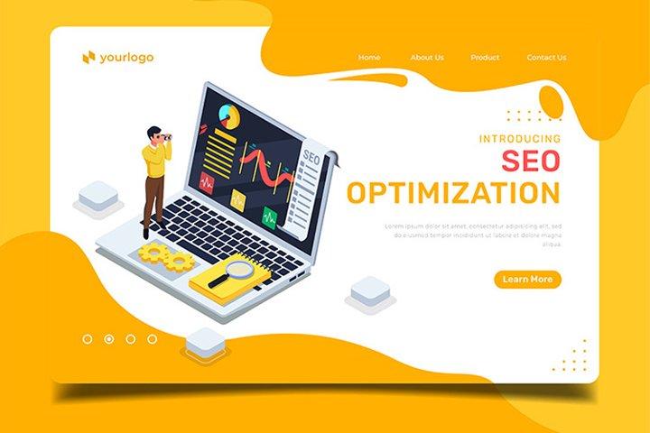 Seo optimization - Landing Page Illustration Template