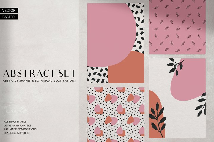 Abstract Shapes & Plants Set
