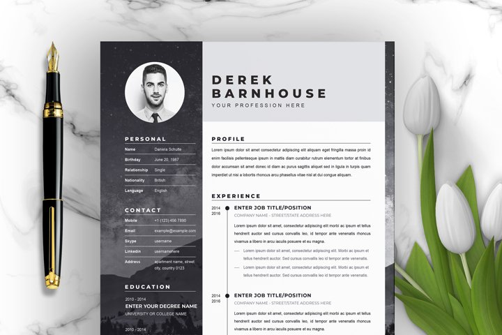 Resume Template Instant Download for Word | Professional CV
