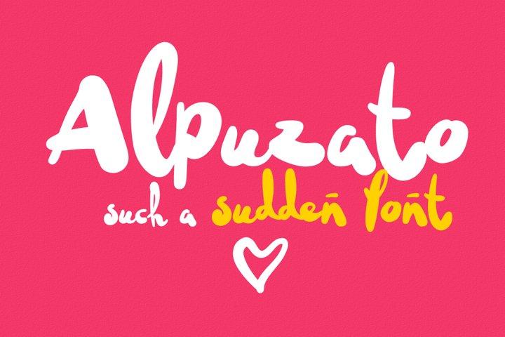 Alpuzato fresh Unique & superfunny brush freestyle font