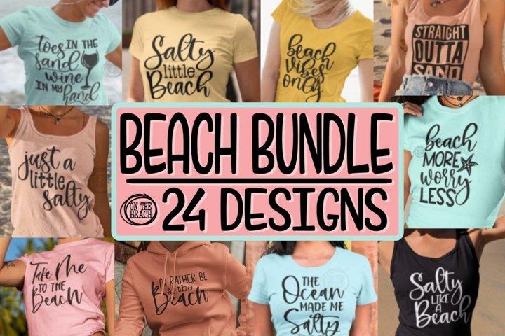 SVG BEACH BUNDLE - 24 Designs - SVG PNG EPS DXF