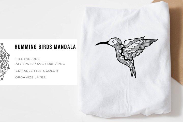 Humming Birds | Mandala