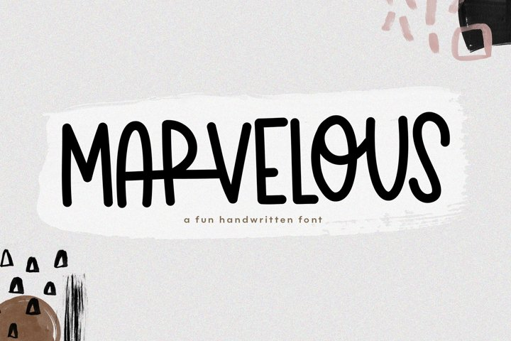 Marvelous - A Fun & Quirky Handwritten Font - Free Font of The Week Font