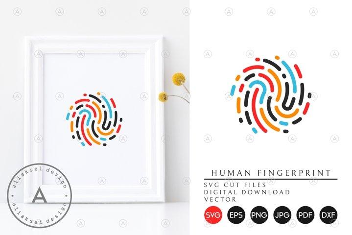 Colorful Fingerprint SVG
