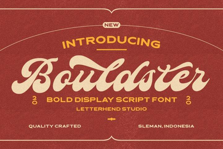 Bouldster - Bold Display Script Font