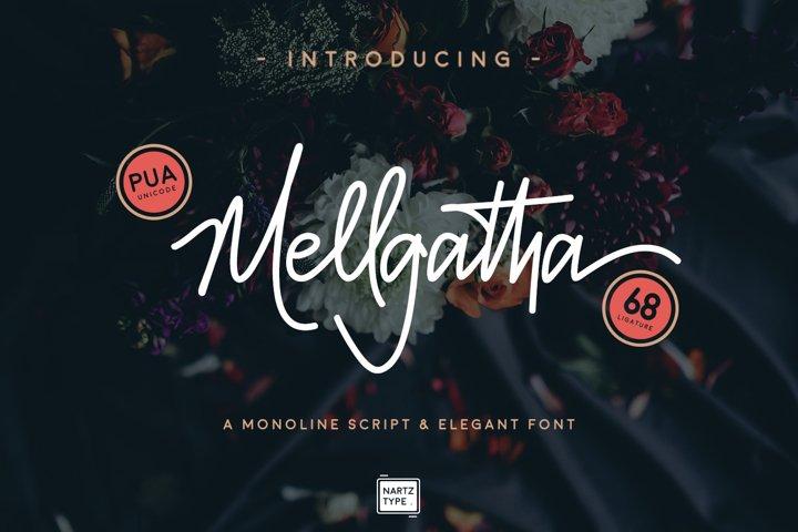 Mellgatha Monoline Script
