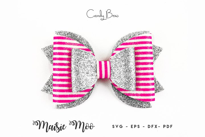 Bow Template, Faux Leather Bow SVG, Valentines Bow SVG,