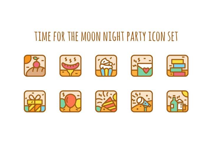 Party Icon Illustration set
