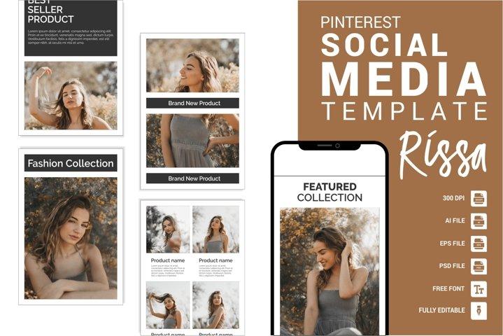 Rissa - Fashion Pinterest Templates
