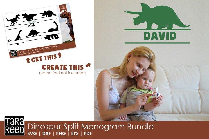 Dinosaur Split Monogram Bundle example 1