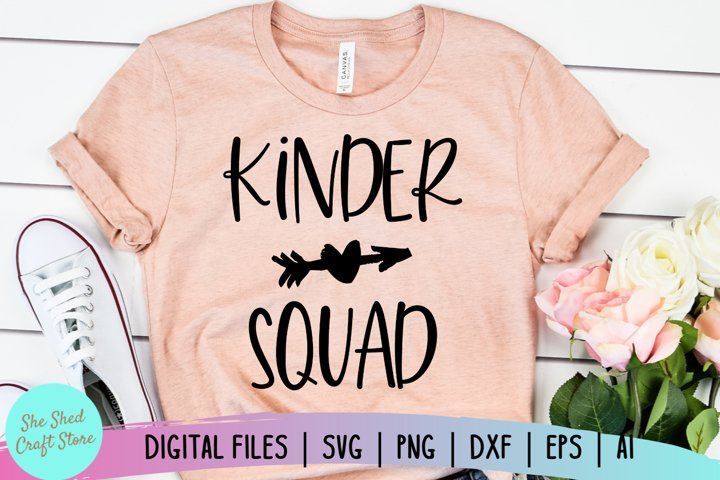 Kinder Squad SVG, Kindergarten Teacher SVG, Back to School