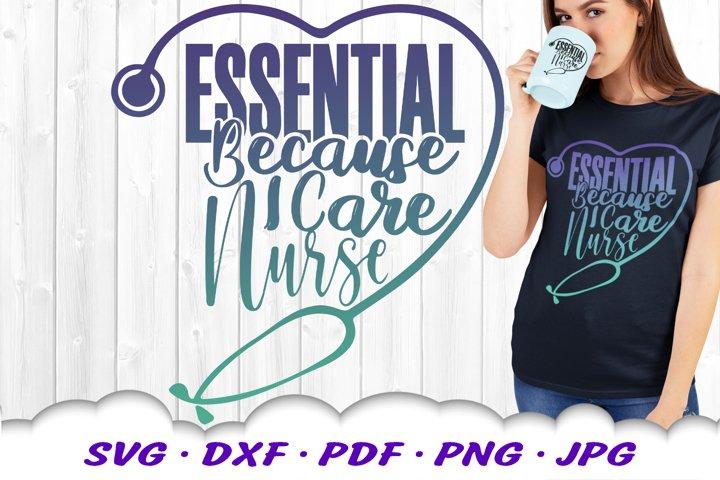 Essential Nurse Stethoscope SVG DXF Cut Files
