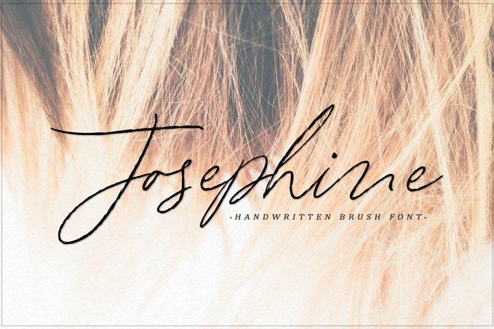 Josephine - handwritten brush font
