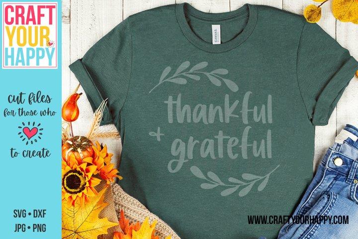 Thankful & Grateful - Thanksgiving SVG/Sublimation PNG