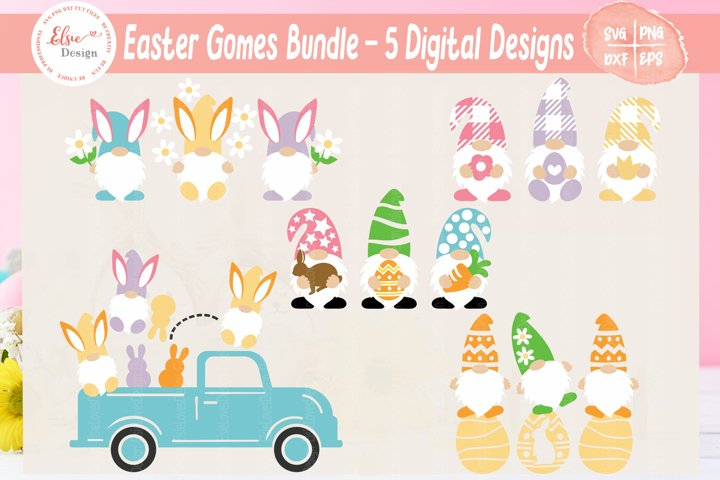 Easter Gnome Bundle SVG Cut Files