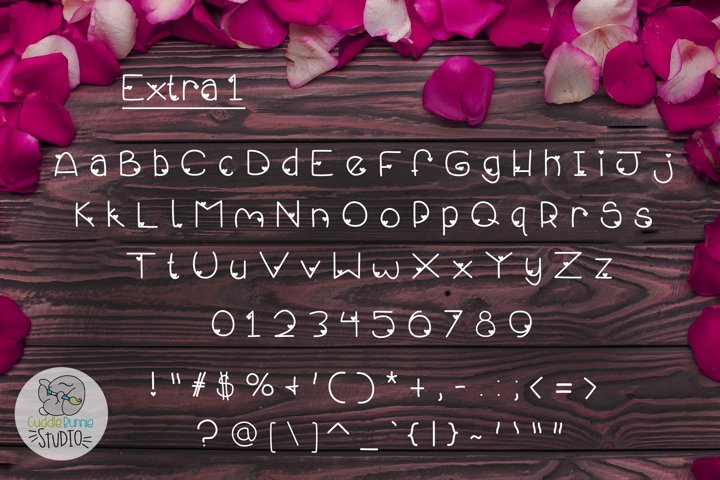 Smothered Rose Petals | A Cute Valentine Font Duo - Free Font Of The Week Design2
