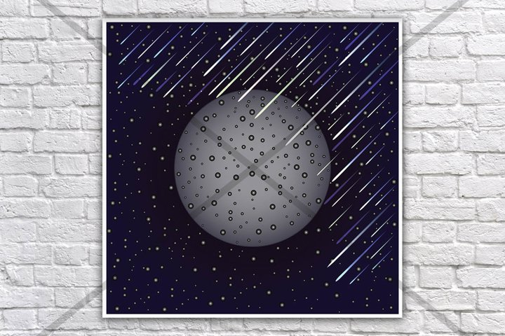 Planet prints, Outer space print, Outer space poster, Space posters, Planets poster, Space poster, Galaxy print, Universe print, Fantasy art