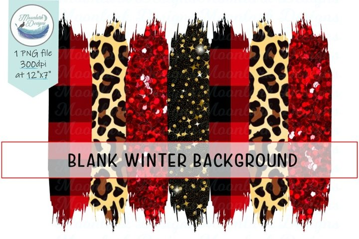 Blank Christmas brush stroke background PNG, plaid, leopard