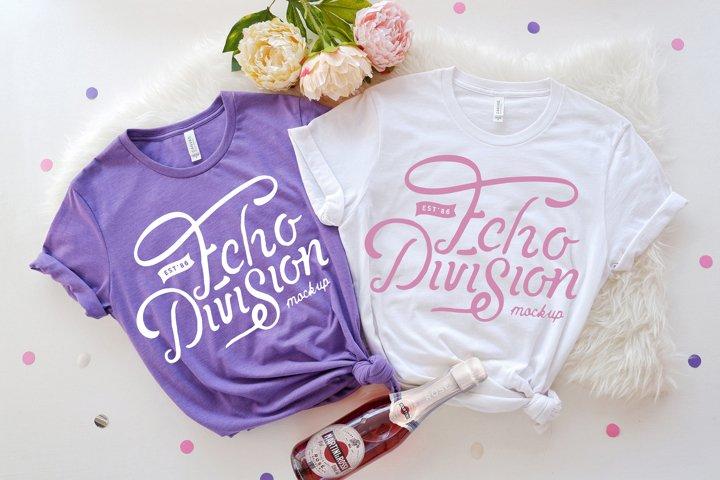 Bachelorette Mockup|Bella Canvas 3001|Couple Shirt Mockup