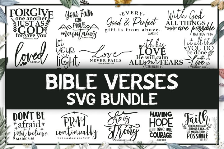 Bible Verses SVG Bundle, Religious Quotes Cut Files
