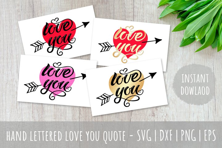 Valentine | Love You quote sublimation |SVG PNG EPS