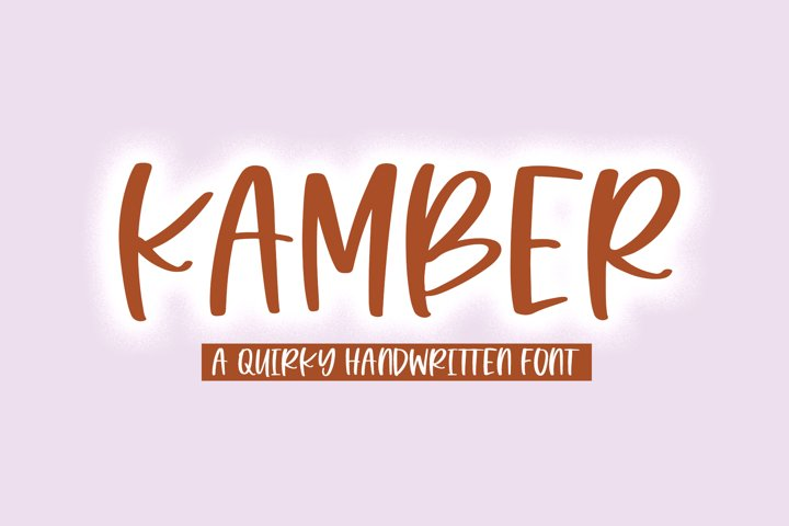 Kamber - A Quirky Handwritten Font