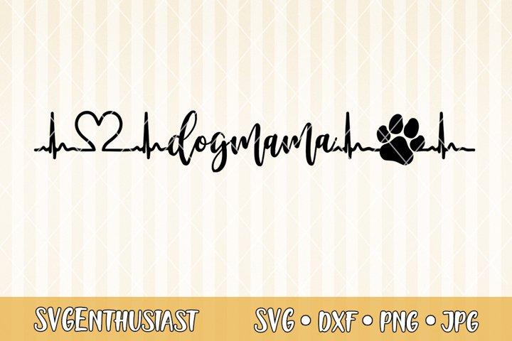 dogmama heartbeat SVG cut file