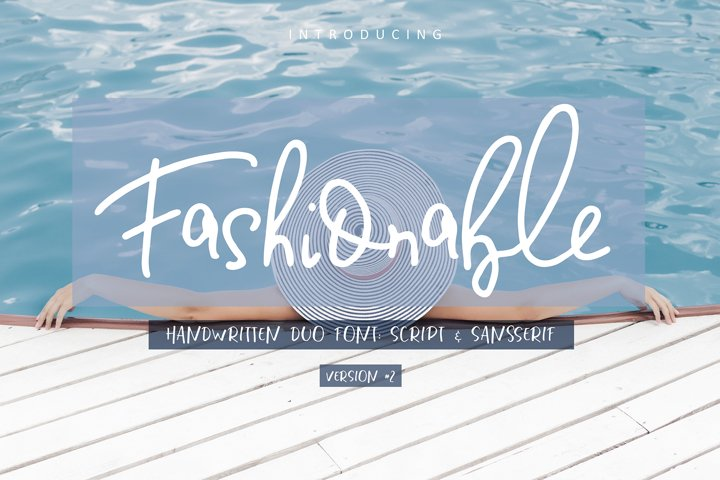 Fashionable Duo Font. Vers.#2