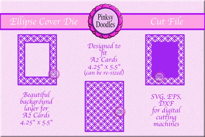 Ellipse A2 Cover Die cut file - SVG, EPS, DXF