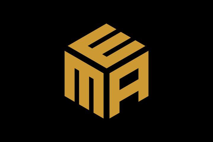 initial mae/mea/aem hexagon logo template