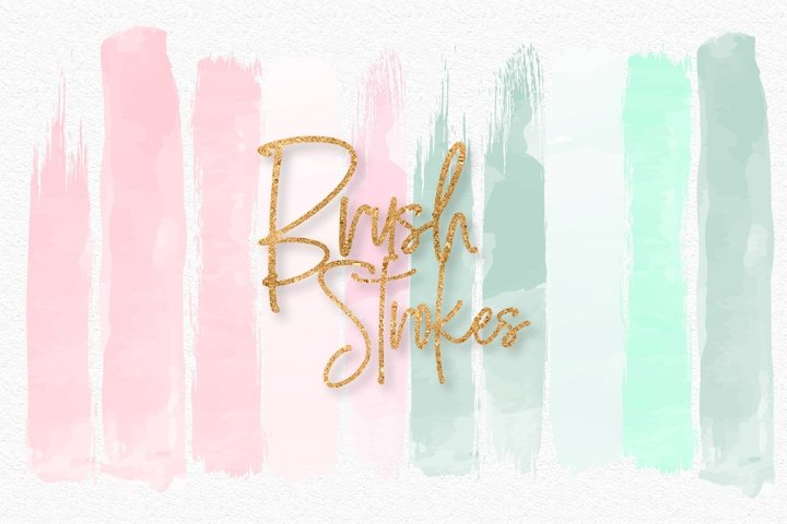 Mint and Pink Brush Strokes