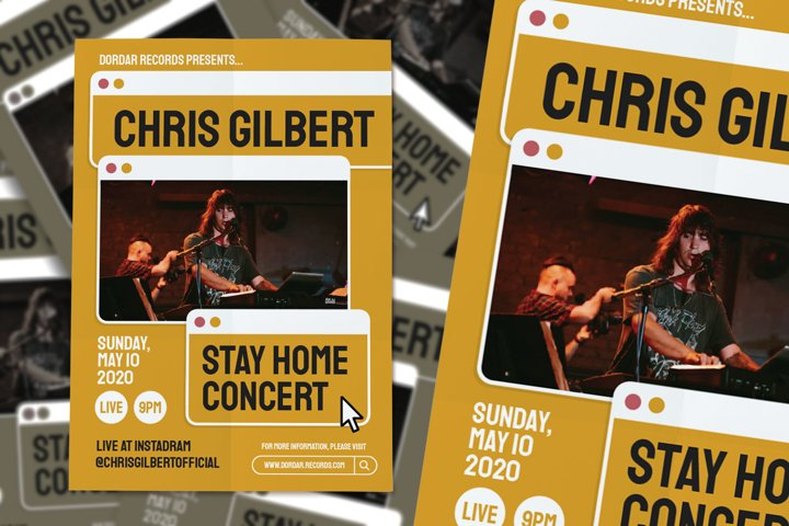 Stay At Home Concert Flyer