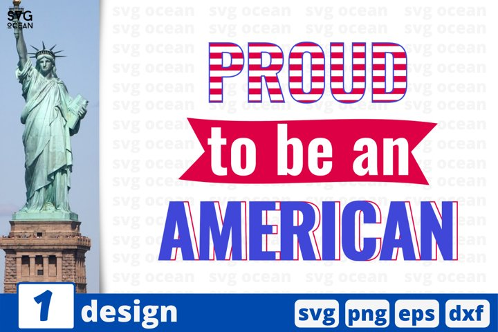 Proud to be an american Svg cut file | USA flag