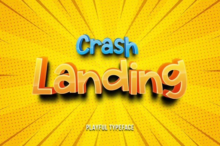 Crash Landing - Playful Font