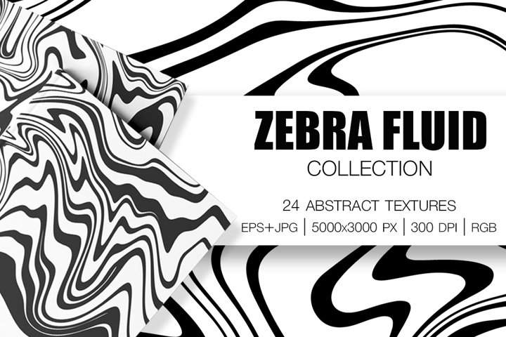 ZEBRA FLUID Collection. 24 Abstract Textures