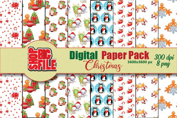 Digital Paper, Christmas pack