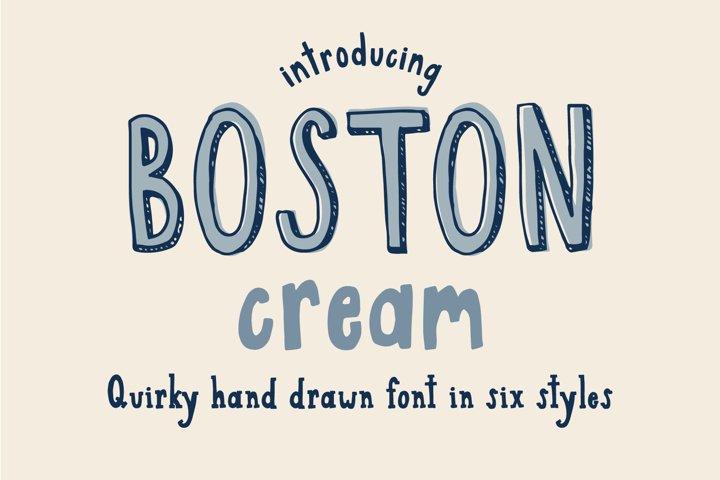 Boston Cream Serif and Sans Web Font