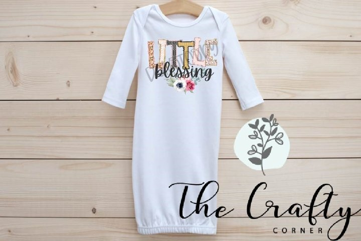 Little Blessing Sublimation Design