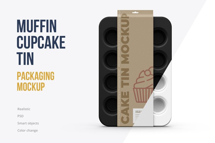 Muffin Tin / Cake Pan Mockup