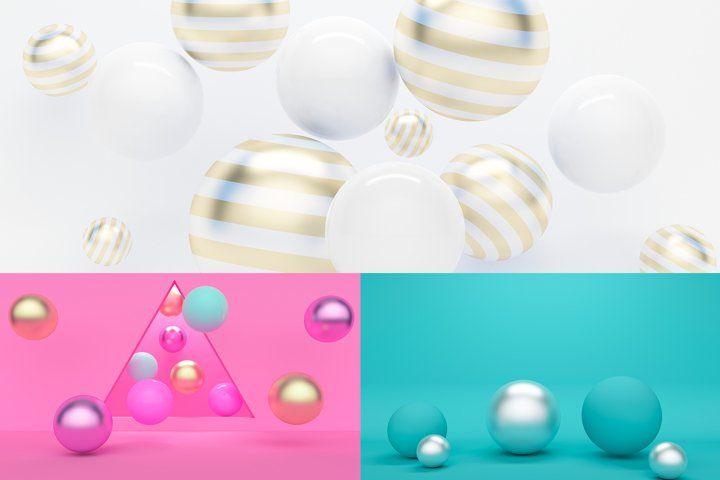Abstract 3D background with balls