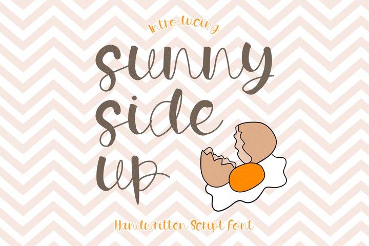 Sunny Side Up - A Playful Handwritten Script Font