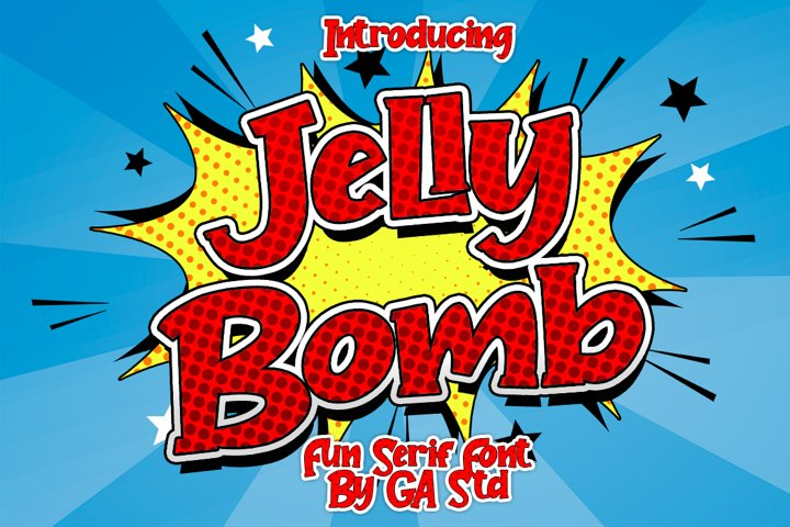 Jelly Bomb - Fun Serif Font