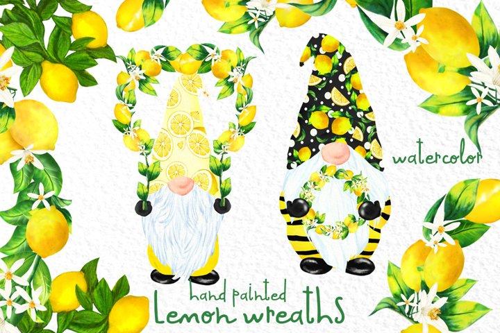 Lemon Wreaths clipart Cute Gnomes Citrus Png Citrus Bouquets