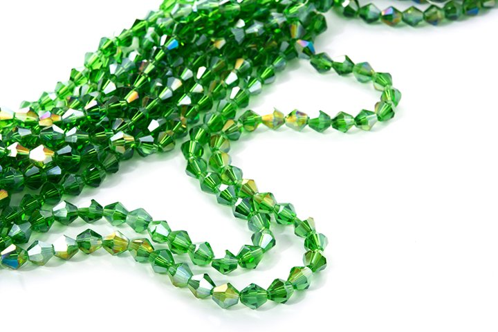 Photo of green Beautiful Sparkle Crystal Beads Texture